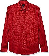 قميص باكمام طويلة وتصميم بزر علوي من ارماني اكستشنج