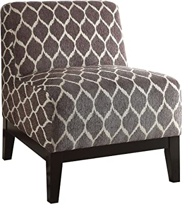 ACME Hinte Brown Chenille Accent Chair