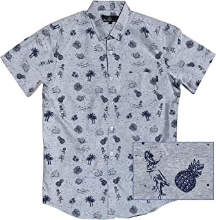 cdf9a7ed4 M MOLOKAI SURF Official Molokai Button up Slim Fit Hawaiian Short Sleeve  Shirts
