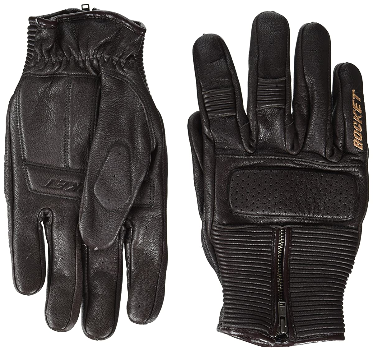 Joe Rocket Men's Café Racer Motorcycle Gloves (Brown, X-Large)