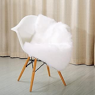 Reafort High Pile Super Soft Faux Sheepskin Faux Fur Rug, Chair Cover, Sofa Cover 20inx36in (20