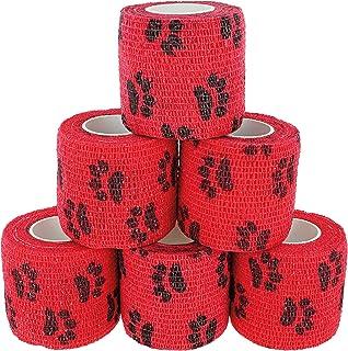 Hunde, Katzen, Pferde I versch Muster und Motive I koh/äsive Bandagen I Tierverband I Fixierbinden I Pet Vet Wrap I Tapes I 5cm x 4,5m Paws /& Patch 6er-Set selbsthaftender Verband f/ür alle Haustiere