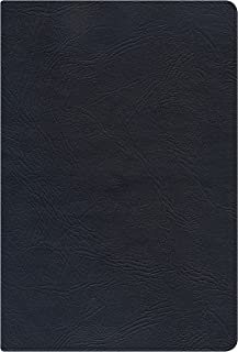 NKJV Large Print Personal Size Reference Bible, Black Genuine Leather Indexed