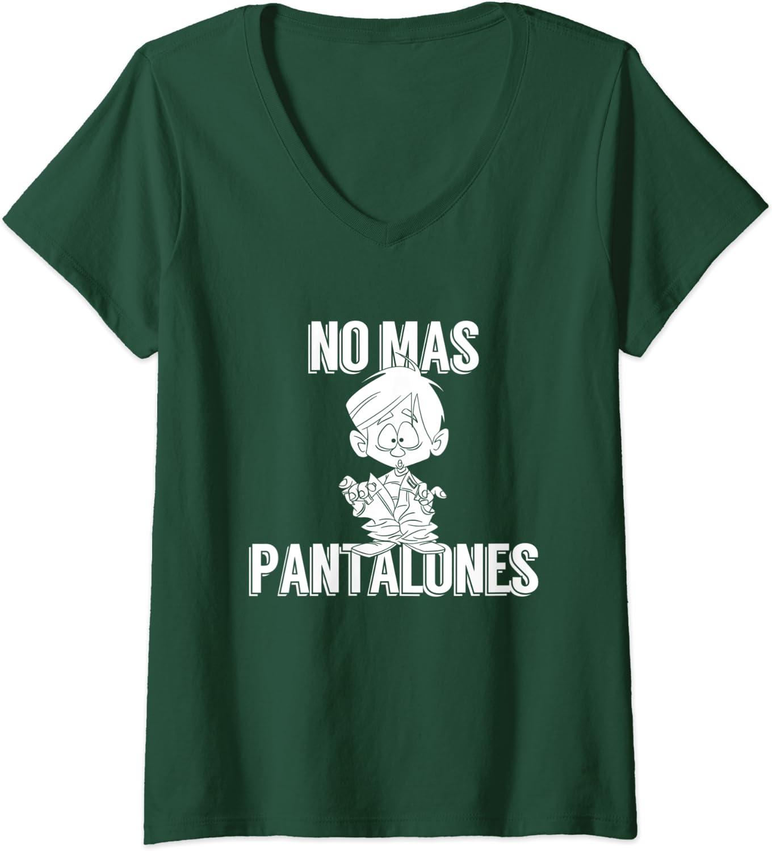 Amazon Com Womens No Mas Pantalones No More Pants Lazy Day V Neck T Shirt Clothing