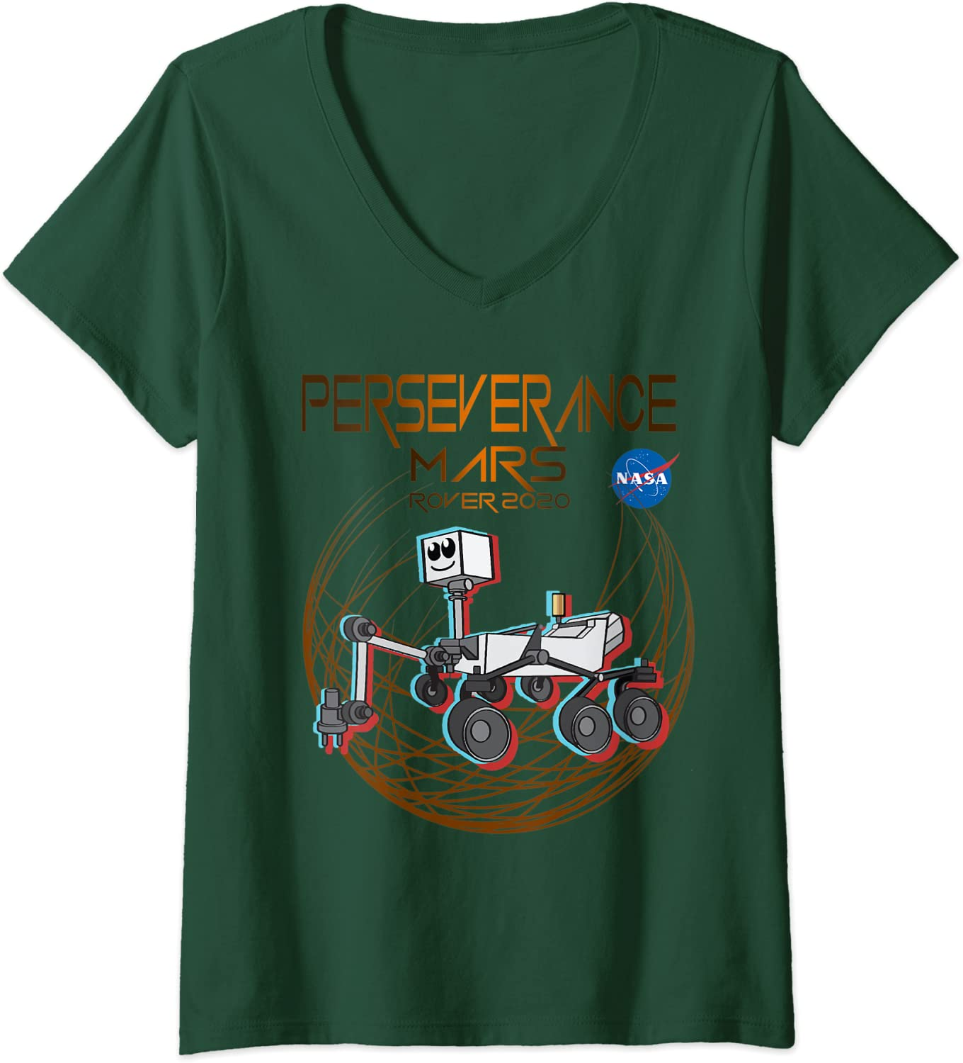 Women/'s Relaxed T-Shirt tee or shirt gift for her Perseverance Mars Dark lettering