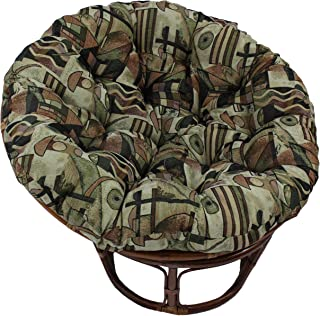 Blazing Needles Patterned Tapestry Papasan Chair Cushion, 44