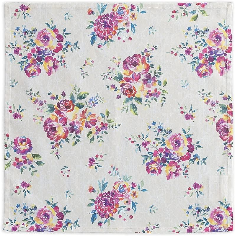 Maison D Hermine Rose Garden 100 Cotton Set Of 4 Napkins 20 Inch By 20 Inch
