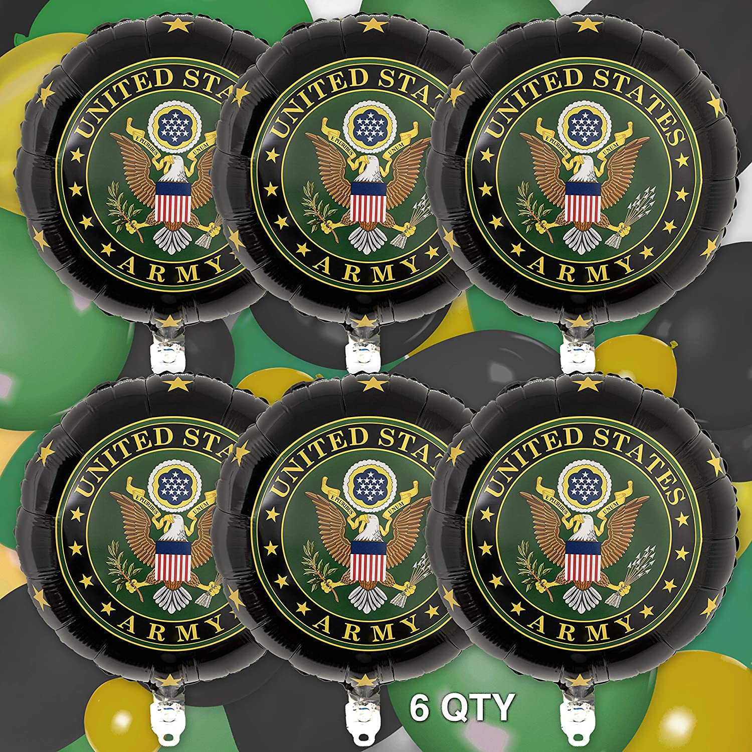Military Party Army Birthday 6 Pack Air Force Party Veterans Day US Military Party Theme American Heroes Latex Balloons Army Party