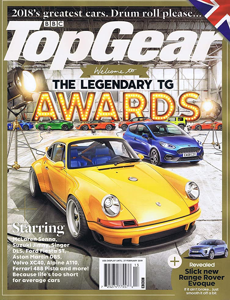 辞書処理する騒乱BBC Top Gear [UK] Award 2018 (単号)
