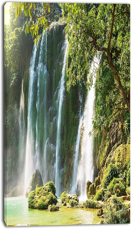 Design Art PT12301-16-32 Detian Waterfall in Vietnam - Oversized Landscape Canvas Art 16x32
