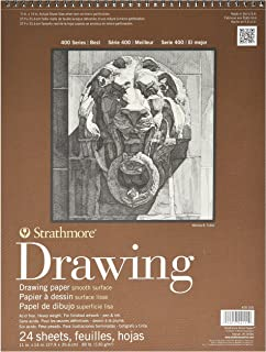 """Strathmore 400 Series Drawing, Smooth Surface, 11""""x14"""" Wire Bound, 24 Sheets"""
