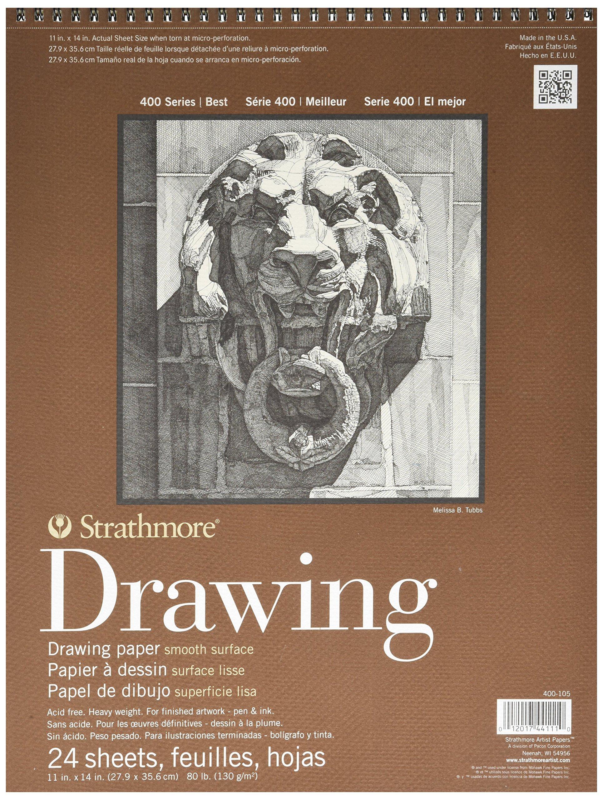 Cuaderno De Dibujo 24 Hojas Strathmore 400 Series 28x35.6cm
