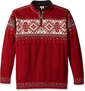 DALE OF NORWAY Men's Blyfjell B-Red Rose/Off-White/Mountainstone/Smoke Small