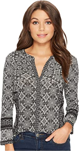 Lucky Brand - Geo Print Button Up Top