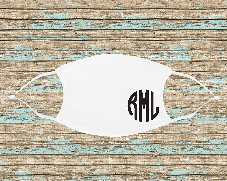 Round Monogram White Mask Year-end gift National uniform free shipping Face Adjustable