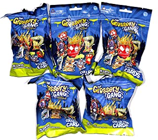 Grossery Gang Season 1 PACK - Include 14 collector cards & 1 Figure 5 Blind Packs/Bags