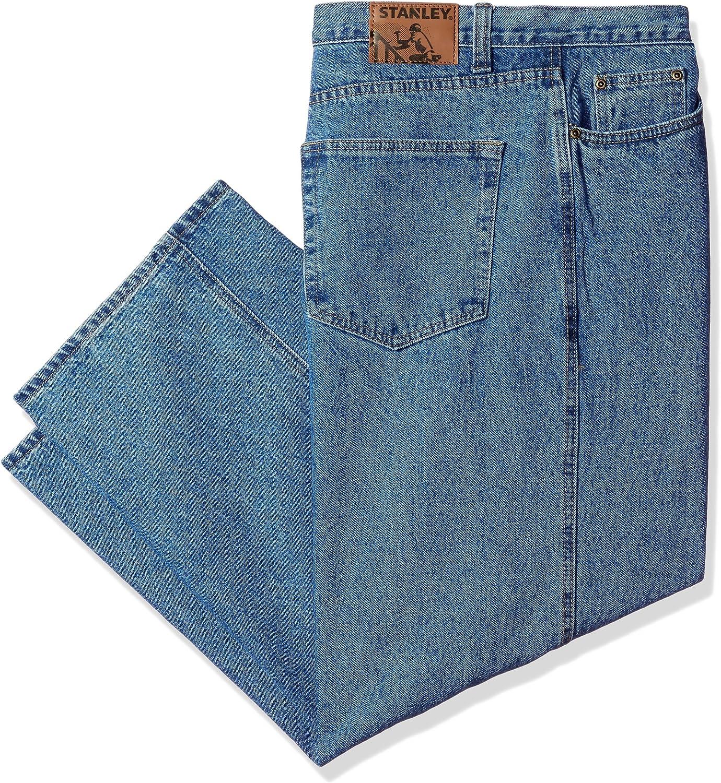 Stanley Workwear Men's Big 100% Cotton 13.5 Oz Denim 5 Pocket Jean