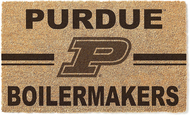 KH Sports Fan Purdue トラスト Boilermakers 激安挑戦中 Team Doormat Logo Coir Multi