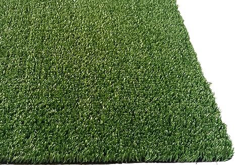 Alfombra de c/ésped Artificial para Interior y Exterior Color Verde con Agujeros de Drenaje de 3 x 6 pies