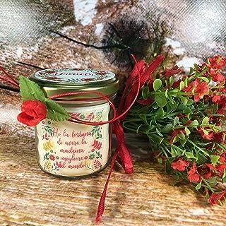 Regalo per la madrina di battesimo o cresima Vasetto con candela con disegno a scelta, aroma a scelta, personalizzata con ...