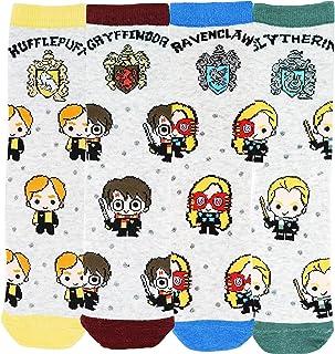 Harry Potter - Calcetines para mujer y niña (4 pares)