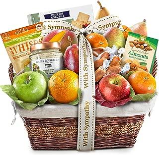 Sympathy Deluxe Gourmet Fruit Basket Gift