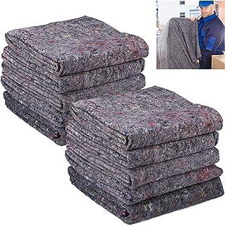 Relaxdays Umzugsdecken 10er Set, Packdecken Umzug, Transport & Lagerung, recycelter Vlies, Möbeldecke 150 x 200 cm, grau