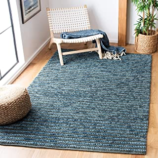 Safavieh Bohemian Collection BOH525G Hand-Knotted Dark Blue and Multi Jute Area Rug (5' x 8')