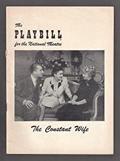 "Katharine Cornell""THE CONSTANT WIFE"" Brian Aherne/Grace George/W. Somerset Maugham 1952 Broadway Playbill"