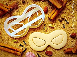 Super Hero Mask Cookie Cutter - Theater Superhero Face Mask Cutters for Sweet Cookies - Incredibles Party Sugarbelle Supplies - 3D Printed Shaped Dough Imprint - Biscuits Mold by Sugary Charm