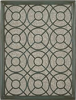 Stone & Beam Iron Latticework Decorative Hanging Mirror Wall Art, 39.4 Inch Height, Verdi Green