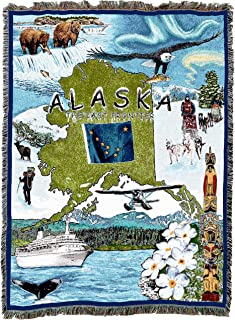 Pure Country Weavers | Alaska Woven Tapestry Throw Blanket Cotton 54X70 Cotton USA