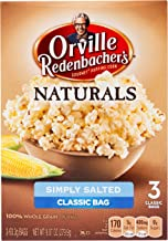Orville Redenbacher's Naturals Simply Salted Popcorn, 3.29 Ounce Classic Bag, 3-Count