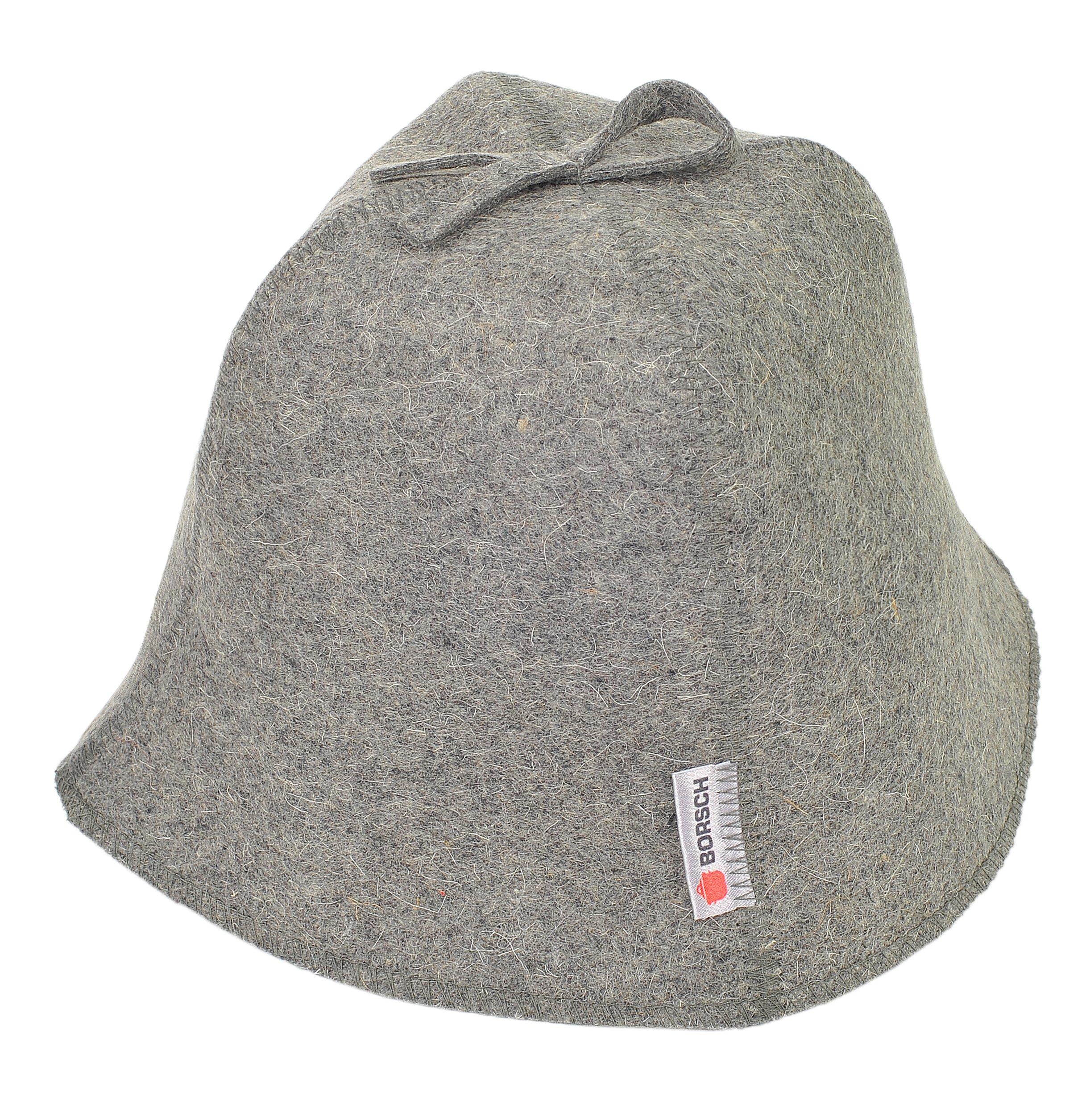 Unisex Grey Wool Felt Bath Beanie Sauna Hat Head Protection Sauna Caps Supplies