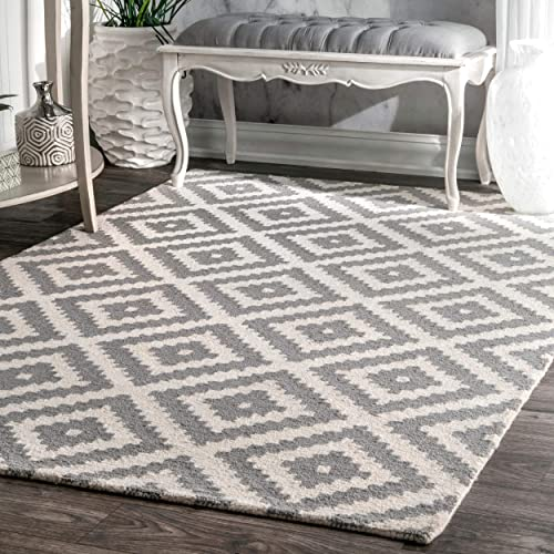 Grey Wool Rugs 9x12 Amazon Com