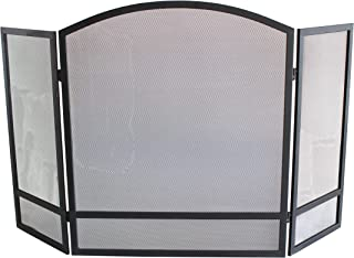 FOLDABLE FIREPLACE SCREEN: This triple-panel screen can be manipulated to your preference for the perfect setup in front of your fireplace and folded down for easy storage in compact spaces