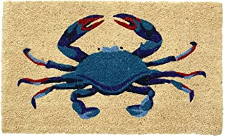 HF by LT Blue Crab 100% Coir Doormat, 18 x 30 inches, Naturally Durable, PVC-Backing, Sustainable