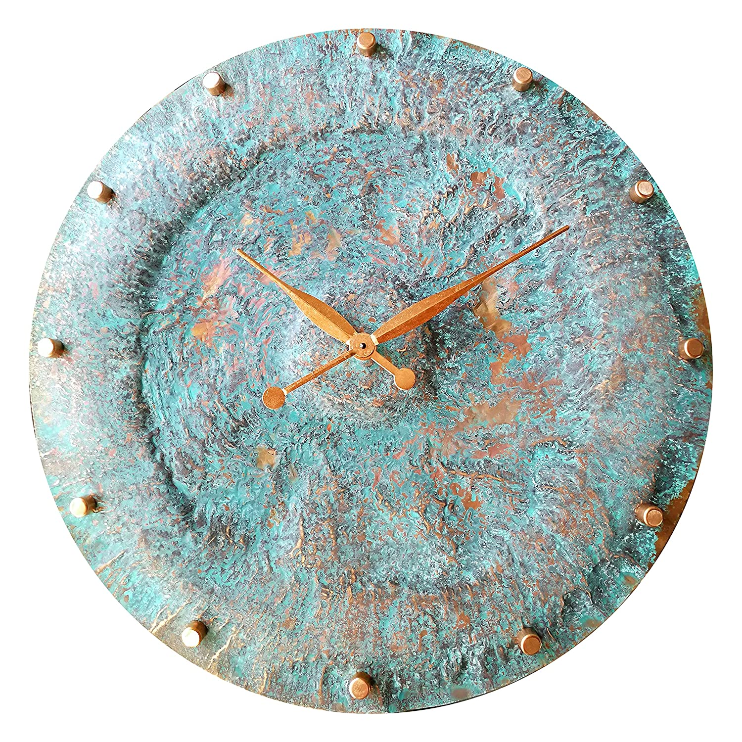 30-inch Turquoise Copper Wall Sale Clock - Anniversary Sil 7th Gift supreme