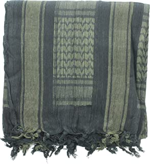 Military Shemagh Arab Tactical Desert Keffiyeh Scarf, 100% Cotton Head Wrap Neck Cover