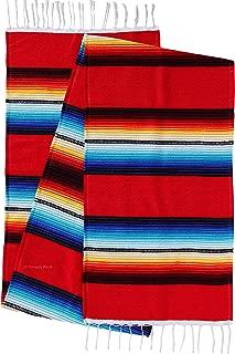 Beautiful Bright Mexican Style Table Runner Saltillo Serape Colorful Striped Sarape 72