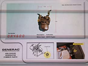 Generac 0A4600 OEM RV Genuine Generator Carburetor Engine GN 360/410 - Replacement Part for 91187A