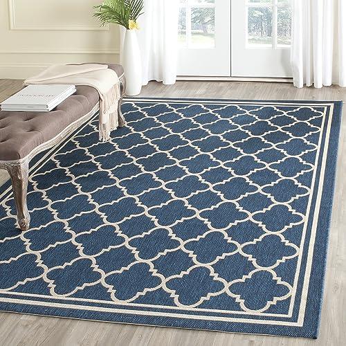 Indoor Outdoor Rugs 5x7 Navy Blue Amazon Com