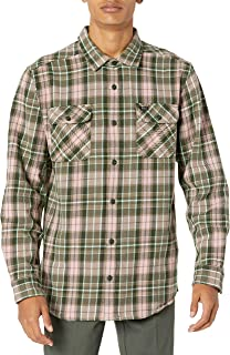 RVCA Men's Operator Flannel Long Sleeve Woven Button Front Shirt