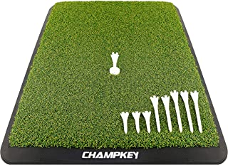 Champkey Premium Turf Golf Hitting Mat(9 Golf Tees & 1 Rubber Tee Included) –..