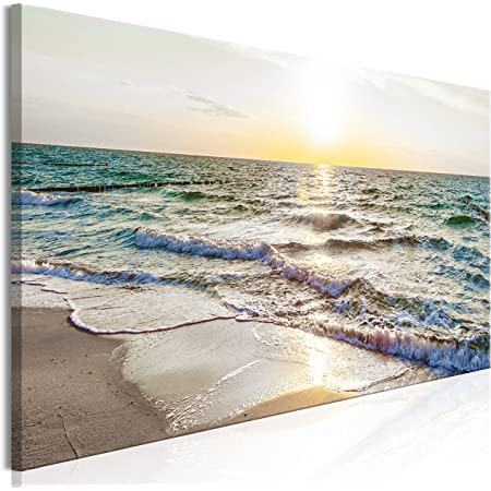 200 x 100 cm Pictures Canvas Beach on Frame Wall Art Picture 6311