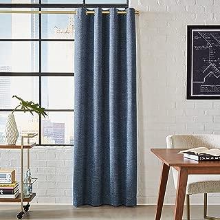 Rivet Modern Grommet Curtain Panel - 84 x 52 Inch, Navy