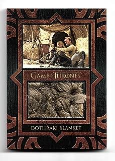 2017 Game of Thrones Valyrian Steel Dothraki Blanket Relic Card VP2