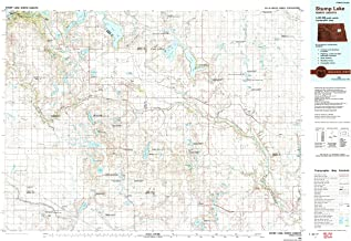 YellowMaps Stump Lake ND topo map, 1:100000 Scale, 30 X 60 Minute, Historical, 1985, Updated 1992, 24.1 x 36.1 in