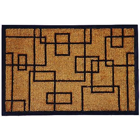 """Calloway Mills 153652436 Social Square Doormat, 24"""" x 36"""", Natural/Black"""