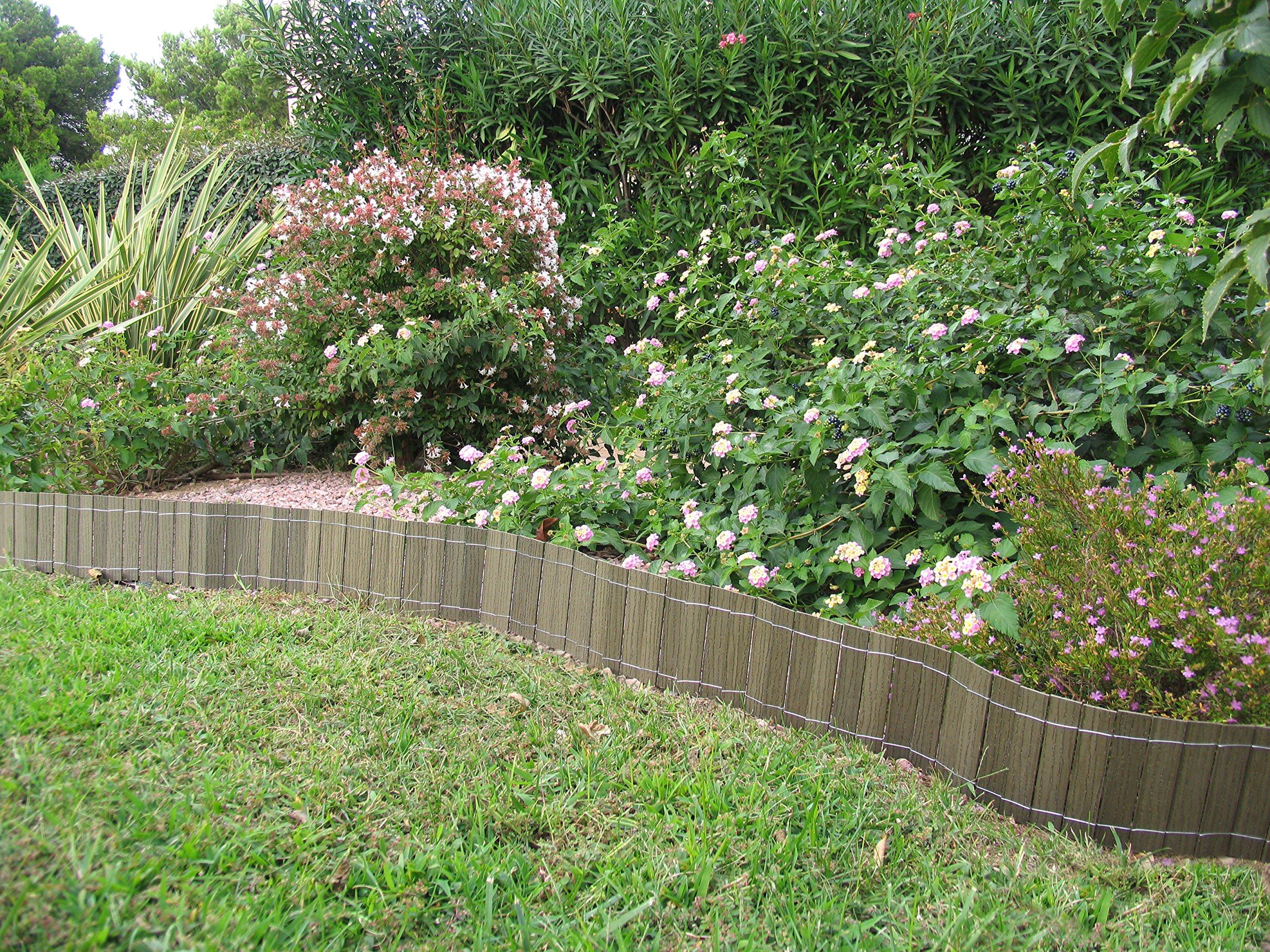 Pack de 2 mini cercados Madera Composite marca B Cottage Nature. Color verde: Amazon.es: Jardín